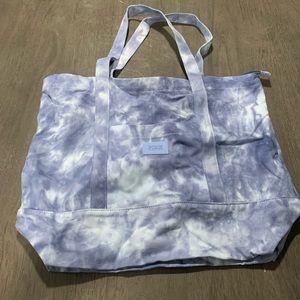 Victoria's Secret Pink blue tie dye tote bag